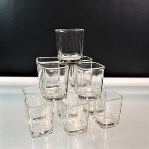 Square Shot Glasses Clear Shooters